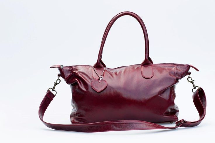 Mally oxblood leather baby bag