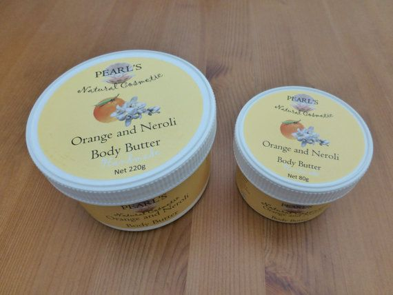 Orange and Neroli Body Butter Vegan by PearlsCosmetic on Etsy
