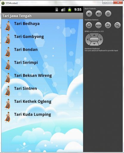 Tari Tradisional Jawa Tengah adalah Aplikasi Pembelajaran tentang Tari Tradisional Daerah Jawa Tengah Untuk Siswa Sekolah Dasar kelas 4. Dengan aplikasi ini siswa dapat mempelajari tarian tradisional daerah jawa tengah secara langsung dengan menggunakan smartphone. Aplikasi ini dilengkapi dengan gambar dan deskripsi tari tradisional jawa tengah itu sendiri.