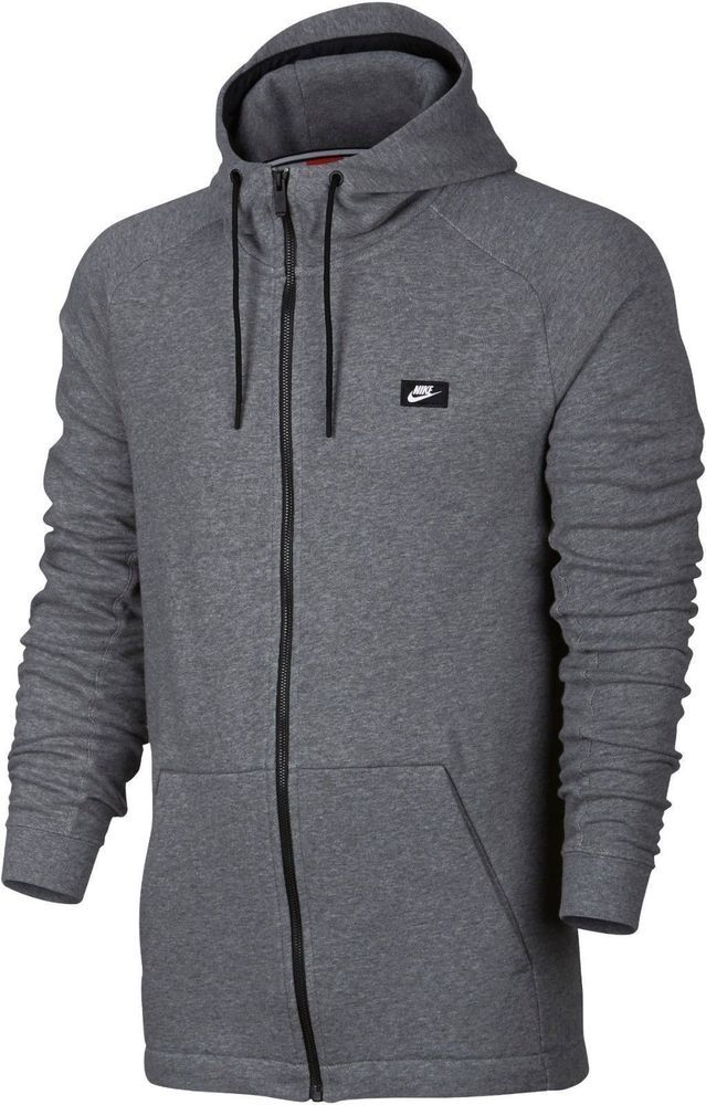 9e77760aa27f Nike Sportswear Modern Mens Hoodie Grey Size XL Full Zip Blend Soft Gym  Casual  Nike  Hoodie