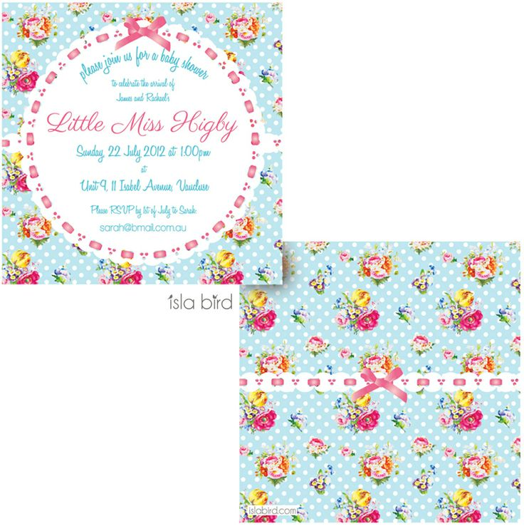 isla bird  - Posies and Lace Baby Shower Invitation, $4.50 (http://www.islabird.com/posies-and-lace-baby-shower-invitation/)