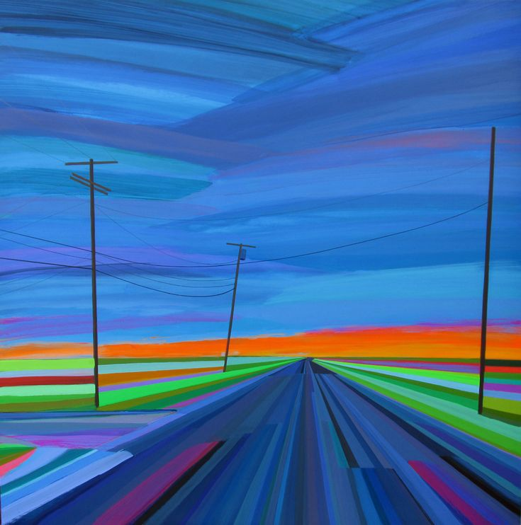 Good Night Scuttle Hole Road 48 x 48 inches, acrylic on wood panel