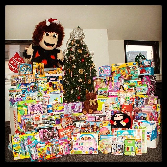 Do you think Cavey has enough toys? It's time to #giveback! #toysfortots #communityservice #Holidays