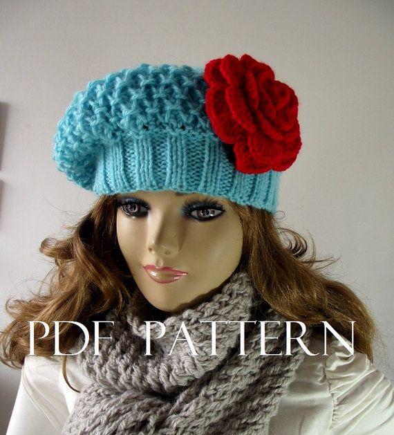 Free Knitting Pattern Tea Cosy : KNITTING HAT PATTERN French Lola Boina Slouchy by LiliaCraftParty #freeknitti...
