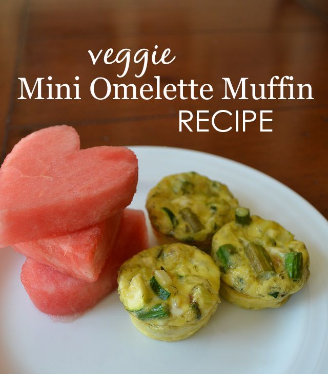 Mini Omelette Muffins Recipe - perfect breakfast for toddlers or kids!