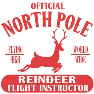 Silhouette Design Store - View Design #159559: north pole reindeer flight instructor