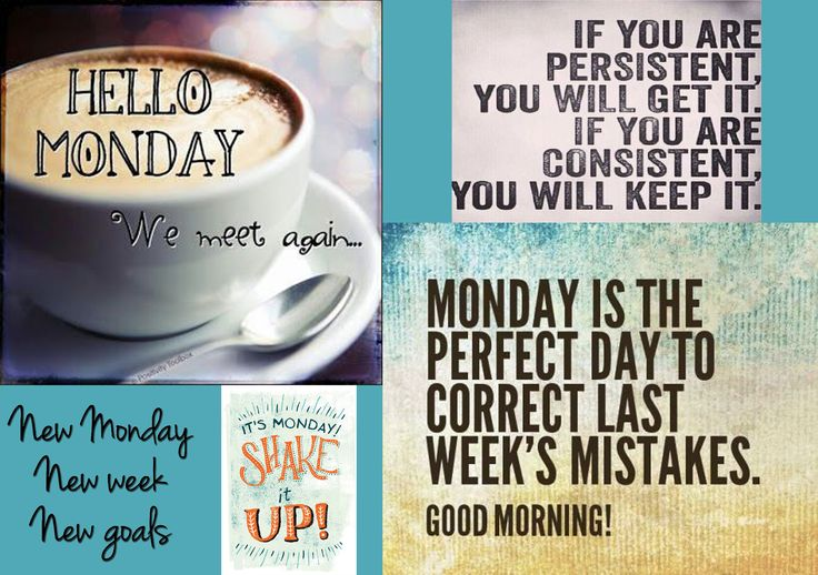 Good morning to a NEW week for NEW goals to set! Have a good Monday!☕☀
