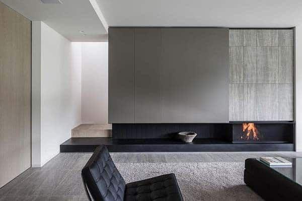 27 Mesmerizing Minimalist Fireplace Ideas For Your Living Room Minimalist Fireplace Minimalist Living Room Fireplace Design