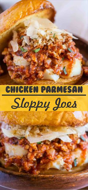 Chicken Parmesan Sloppy Joes | Floats CO #chicken …