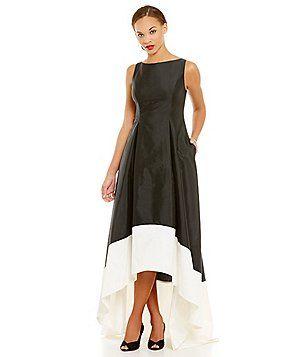 Adrianna Papell Sleeveless Midi Colorblock Dress