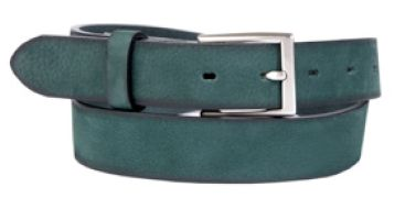Buckles & Belts - Belt/Gürtel - New Spring Collection 2016 - Torean - Nubuk-Leather - bosco - green - Design in SWITZERLAND made in ITALY https://www.facebook.com/BucklesBelts