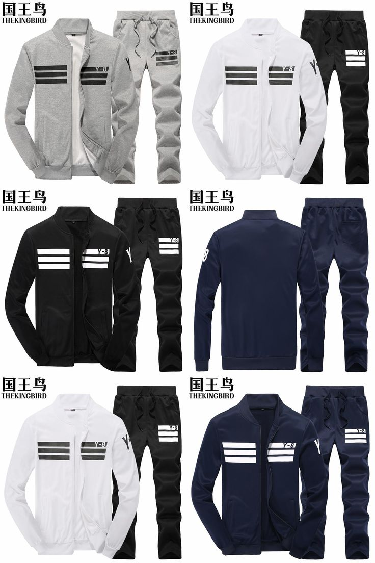 [Visit to Buy] Men's sports Suit Autumn And Winter The new cotton Large size sport set men jogging suits Run Fitness baseball track suit #Advertisement