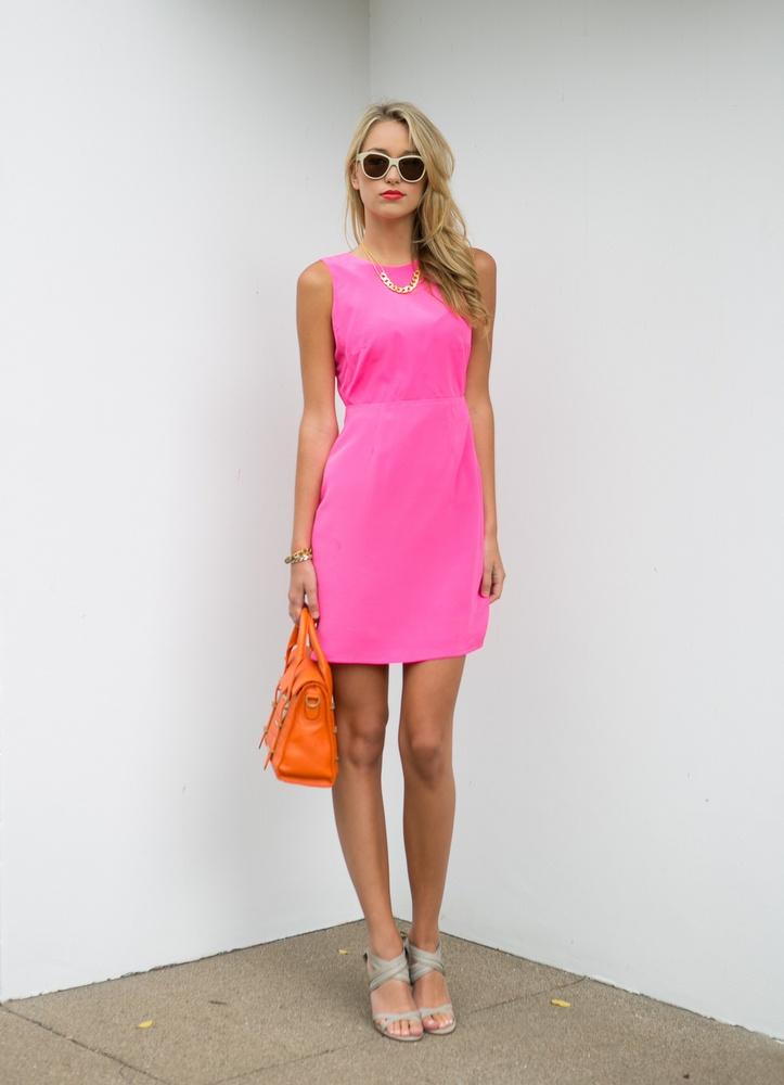 Bubblegum Pink | Chloe Rose  Hunter Dixon Dress. Botkier Bag. Vanessa Mooney Necklace.