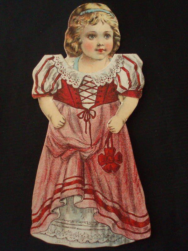 "Victorian Paper Doll Advertising ""Schilling' Best"" | eBay"