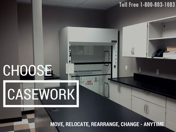 Finished Modular Casework Installed in Chemical Suppliers Testing Laboratory