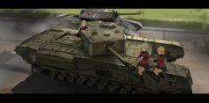 Assam,Girls und Panzer,Anime,Аниме,Darjeeling,Orange Pekoe,renatus.z,Anime Art,Аниме арт, Аниме-арт