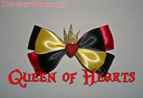 Queen of Hearts Disney Bow