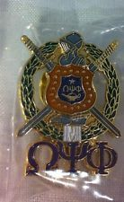 Omega Psi Phi Fraternity Crest with...