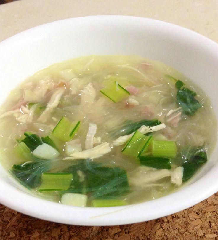 Bacon-chicken soup