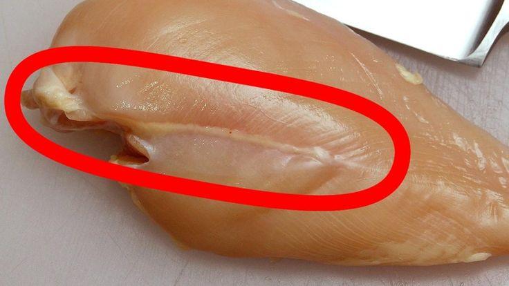 Ни в коем случае не покупайте куриную грудку с такими полосками (4фото)