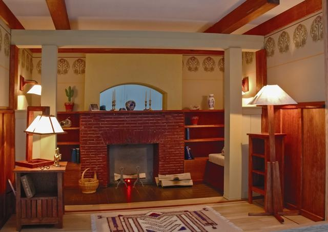 This Room Is In The Arts U0026 Crafts Style And Is Based On A Design By Gustav  Stickley. The Floor Outside The Inglenook Is Beech With Walnut And Mahogany  ... Idea