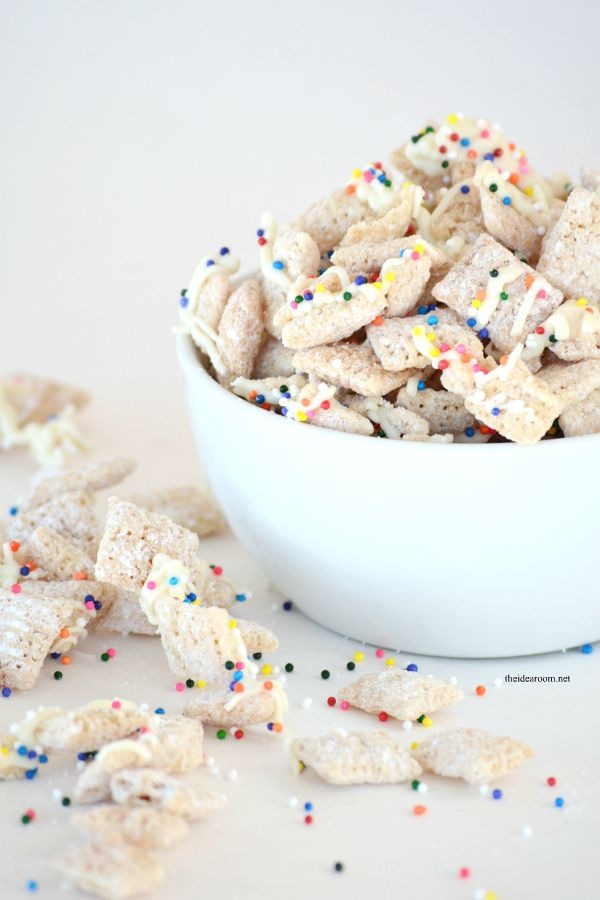 Make this Sugar Cookie Chex Party Mix for your next party or get together. Tastes great and will be the hit of the party. Simple recipe.