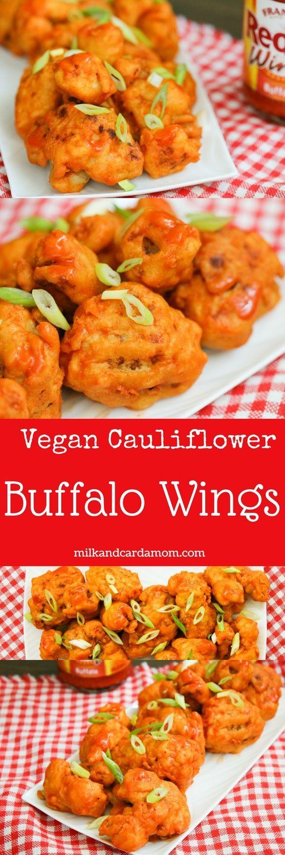 Vegan cauliflower buffalo wings!