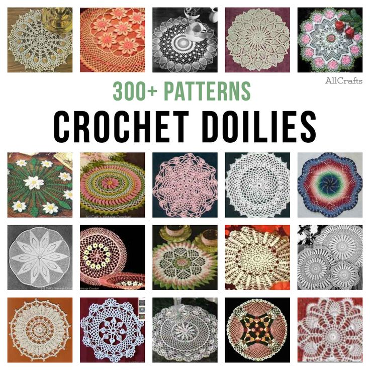 300+ Free Crochet Doily Patterns