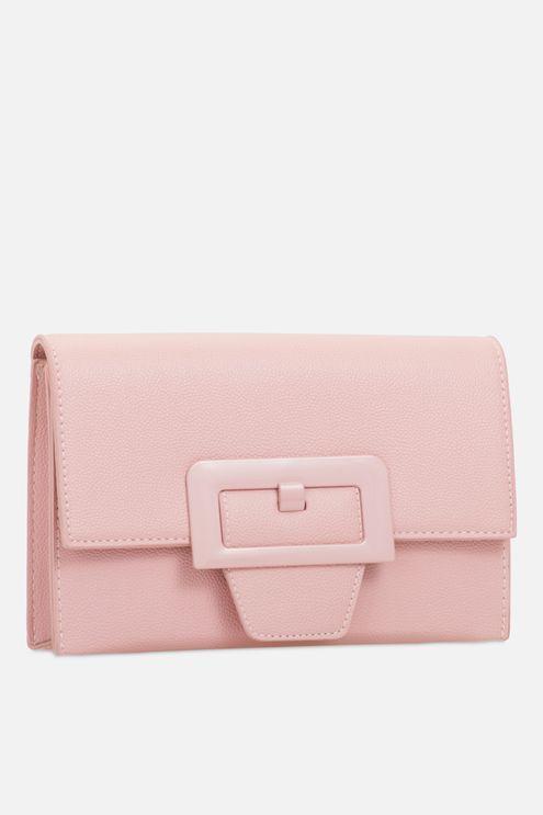 **Retro Pink Clutch Bag