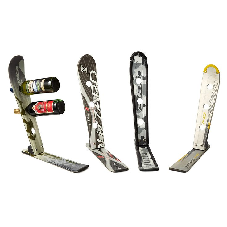 Display your favorite wine with these unique wine racks made of reclaimed skis.