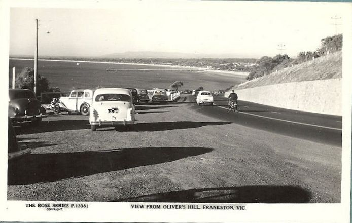 Parking at the top of Olivers Hill, Frankston.