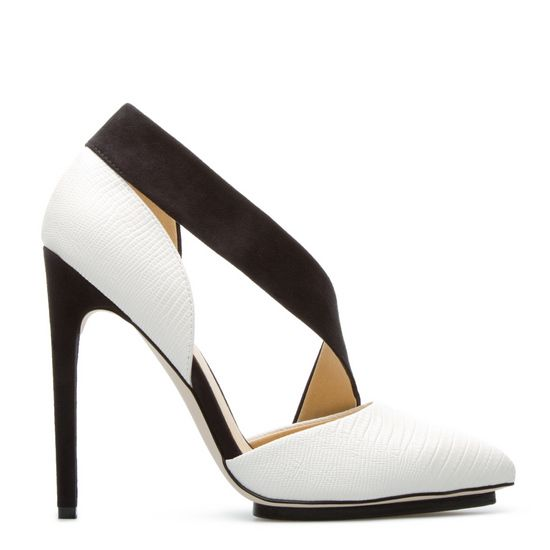 Rino PUMP: pointed-toe with snake-effect treatment!Shoes 2014, White Shoes, Gwen Stefani, Shoedazzle, Shoes Fashion, Black And White, Shoes Boots, Shoe Boots, Stefani Shoes