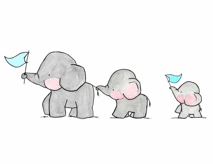 Elefanten auf Parade–archivalische Druck