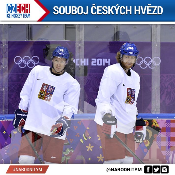 Ondrej Palat   and Jakub Voracek  #CZE  National Team https://www.facebook.com/narodnitym/photos/a.294343030740917.1073741828.292813624227191/501462040029014/?type=3