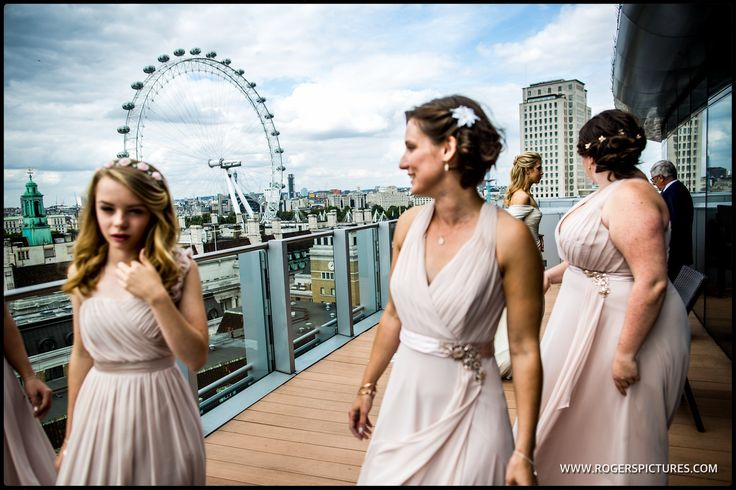 Bridesmaids on the terrace Park Plaza Hotels  Westminster -