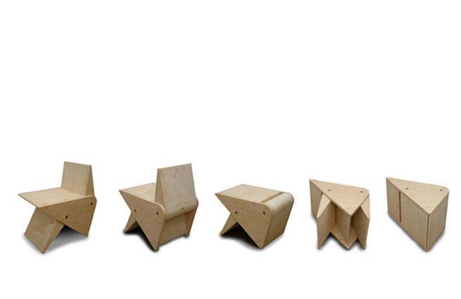 Small Space Convertible Furniture: Rabbit Chair . Takeshi Miyakawa