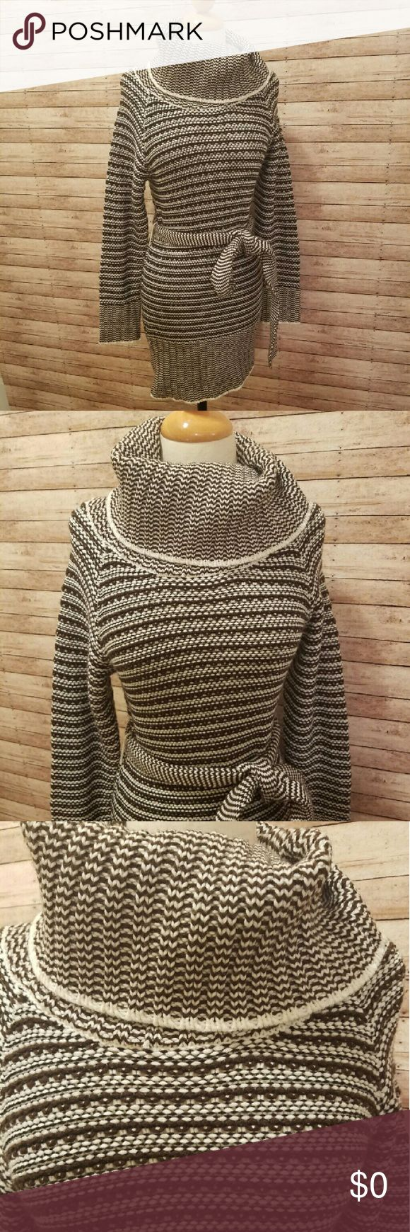 "💥NEW Listing💥 ONE CLOTHING COWL Sweater Dress Cozy sweater dress with cowl neckline and belt ~ EUC ~ Length 32"" ~ Chest 19"" across ~ Waist 18"" one clothing Dresses Mini"