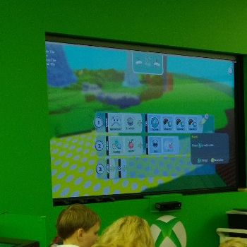 Kodu lets kids create games on the PC and Xbox via a simple visual programming language. Kodu can be used to teach creativity, problem solving, storytelling, as well as programming. FREE for PC, $ for XBOX.