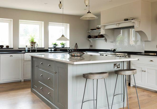Image result for larger modern shaker kitchens grey