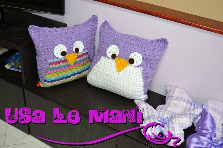 Tutorial cuscino gufo a uncinetto / Crochet Owl Pillows tutorial PARTE1