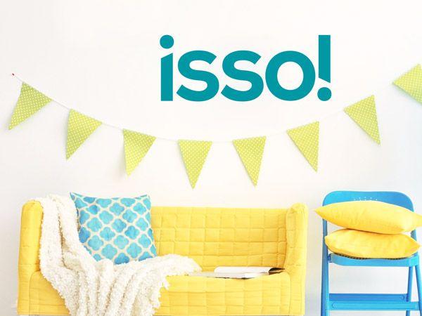 Beautiful M dchenzimmer in Gelb und T rkis Wandtattoo Isso Jugendwort als Dekoration im Jugendzimmer