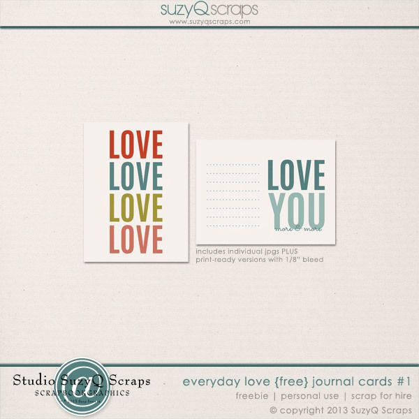 Free Love Cards for project life   [ One Velvet Morning ]