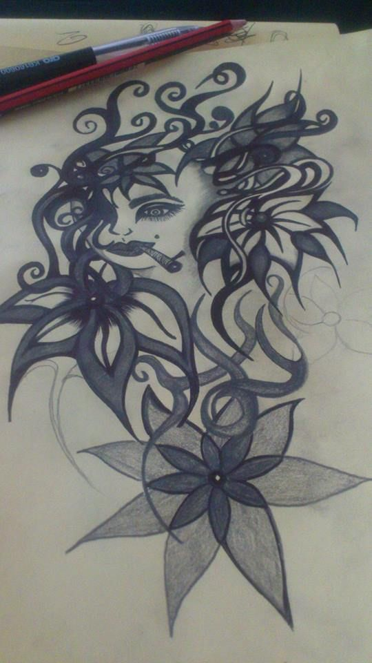 Flowergirl (pencil) to be converted to digital