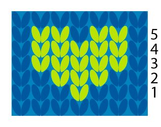 How to do Duplicate Stitch Tutorial with Free Heart Chart - Knitting is Awesome