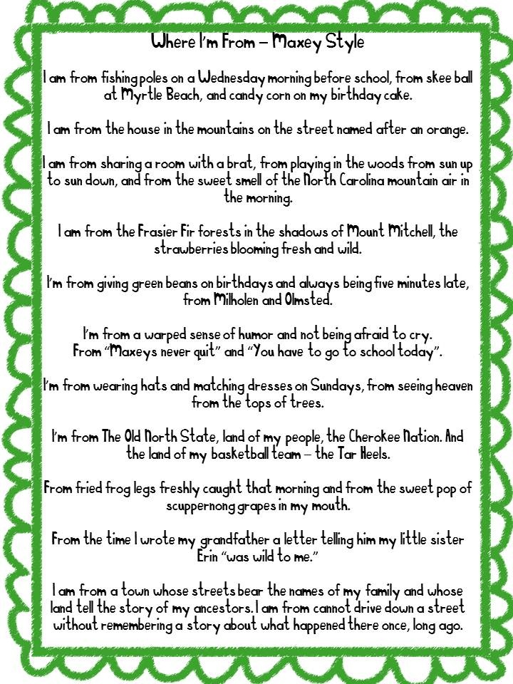 photograph about I Am Poem Template Printable identified as Pattern Poems For Higher Faculty Pupils - 1000 illustrations or photos relating to i