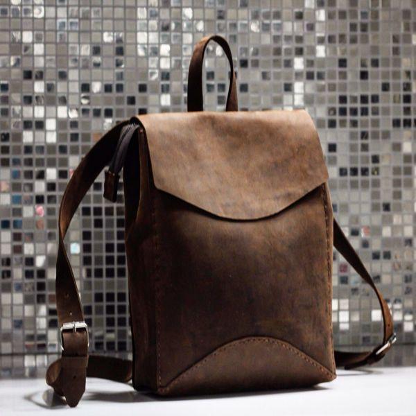 Купить Рюкзак из винтажной кожи - рюкзак, рюкзак женский, рюкзак ручной работы, рюкзачок