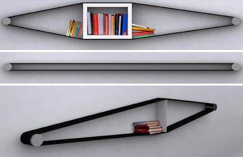 Elastico Bookshelf Concept – Functional And Flexible   OhGizmo!