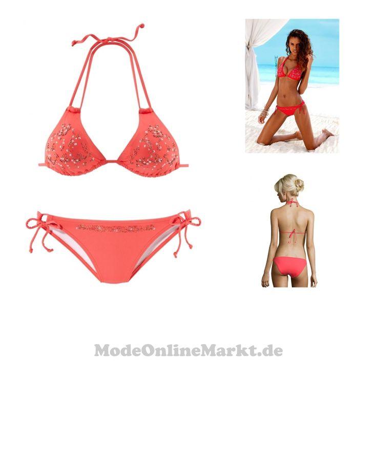4893865350962 | #JETTE #Damen #Triangel-Bikini #orange