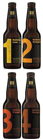 Numeral beer packaging — Designer unknown