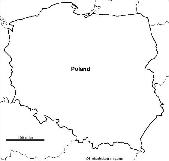 outline map Poland | Amazing Race Geography Season 23 | Pinterest